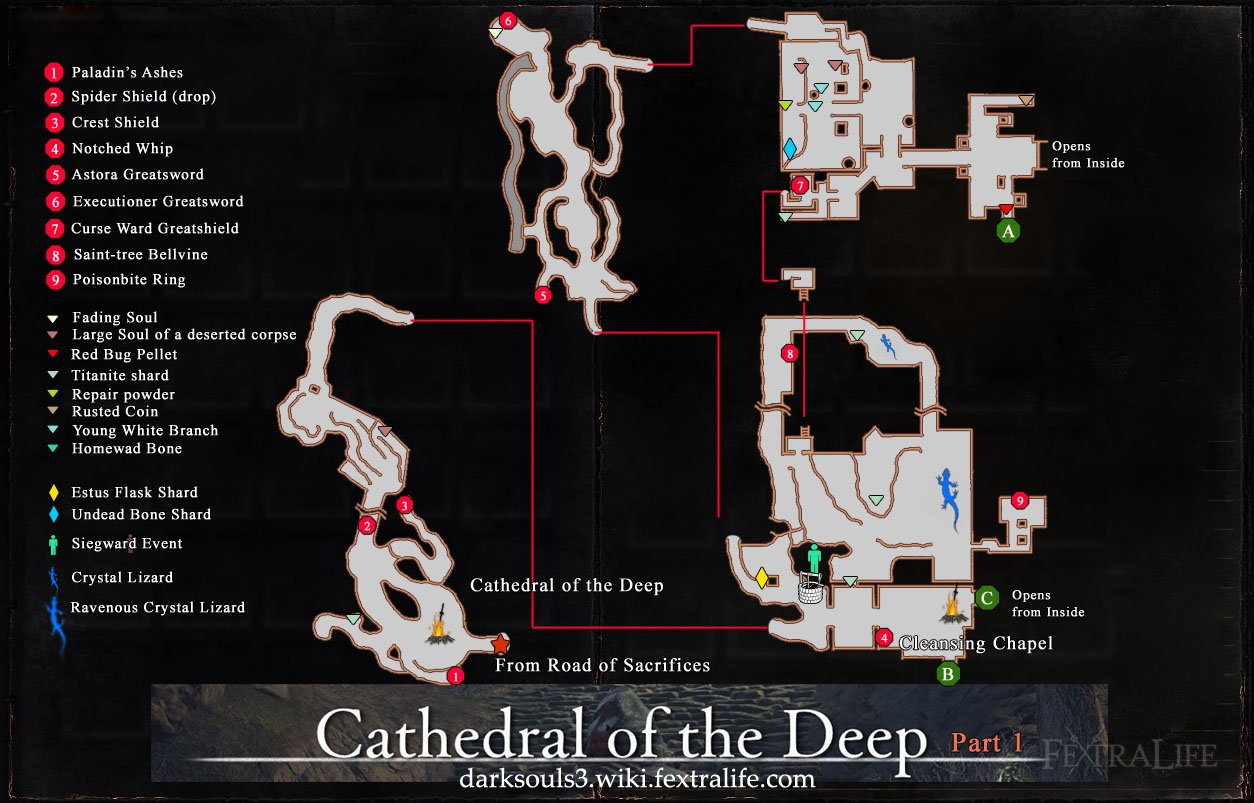 Cathedral of the Deep Map 1