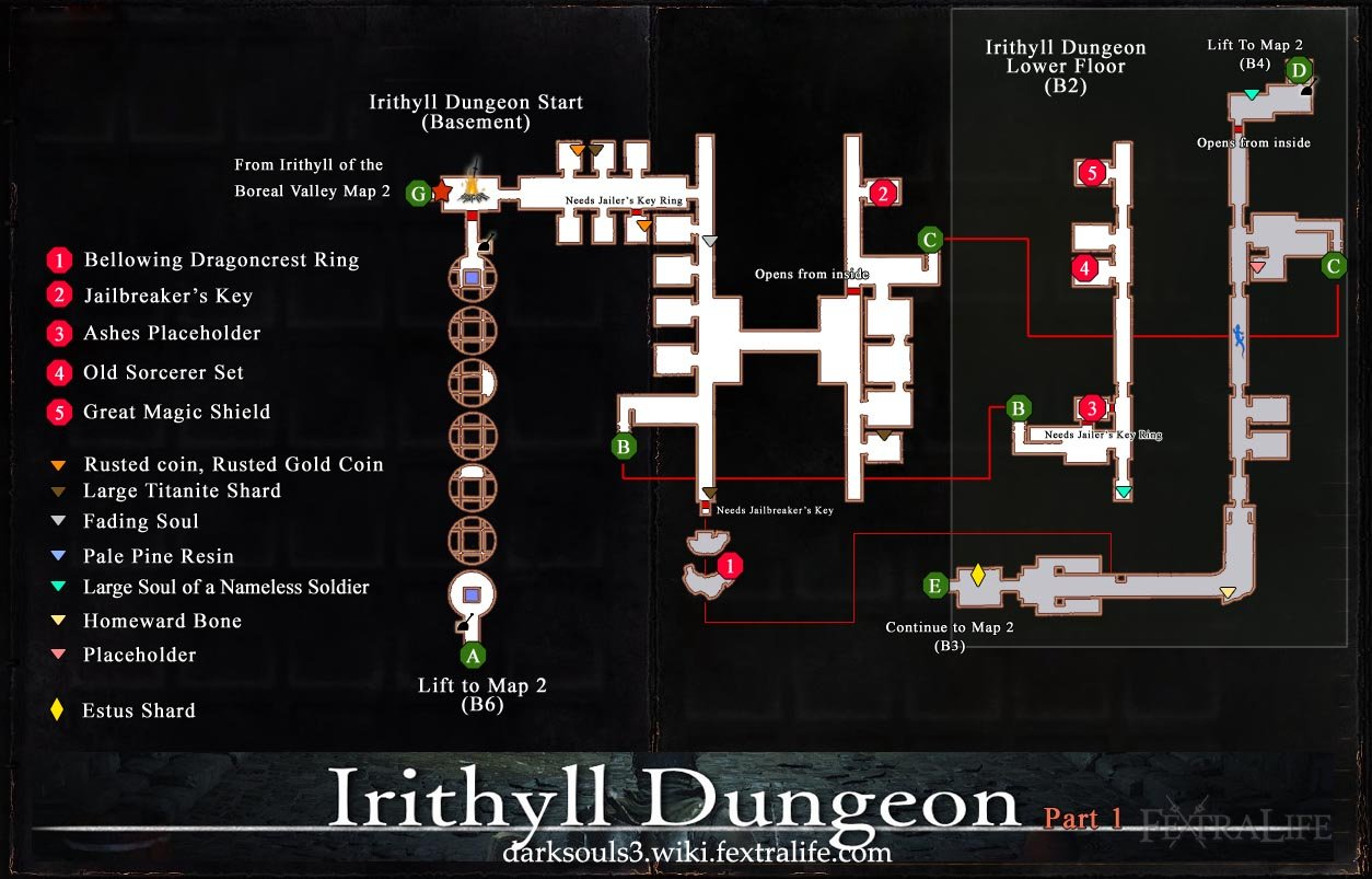 Irithyll Dungeon Map